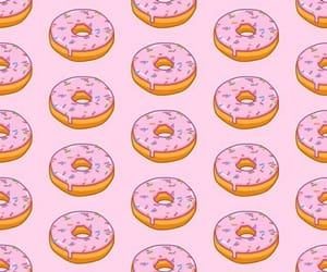 donut, pink, and rosa image