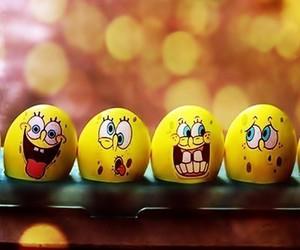 spongebob, eggs, and sponge bob image
