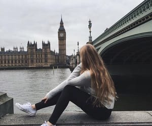 london, girl, and hair image
