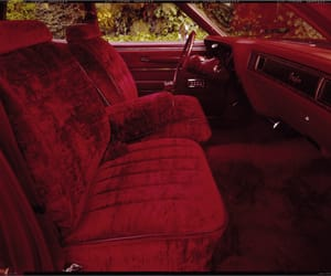 red, car, and velvet image
