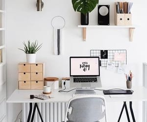 home, desk, and white image