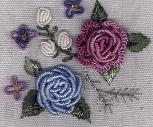 flower fashion embroidery image