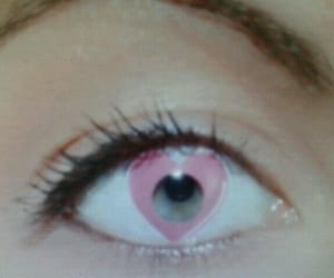 heart, contacts, and eyes image