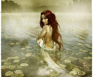 king arthur, lady of the lake redhead, and oloferla art image