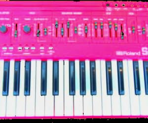 pink, synth, and synthesizers image