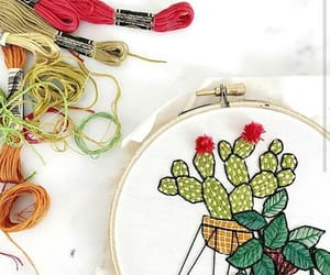 art, embroidery, and love image