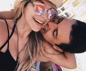 beach day, lovers, and love image
