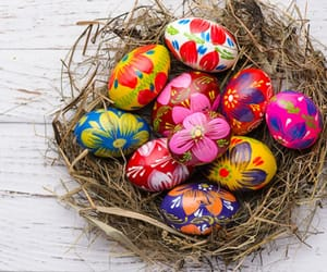 easter, pastels, and eggs image