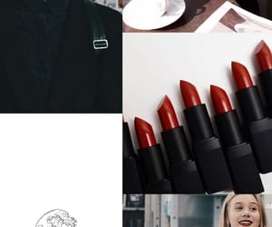 red lipstick, skam, and wallpaper image