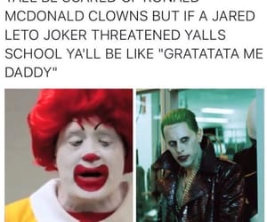 funny, ronald mcdonald, and the joker image