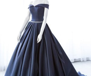 dress, navy blue dress, and ball gown prom dress image