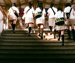 girls, japan, and school image
