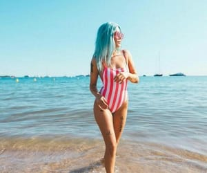 halsey, beach, and summer image