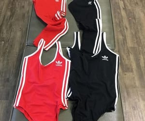adidas, girls, and red image