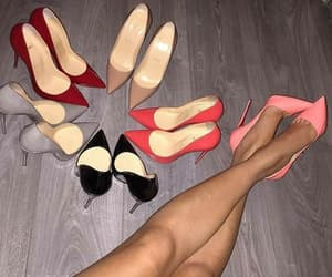 black, shoes, and coral image