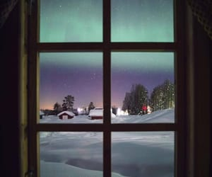 aurora borealis, cold, and snow image