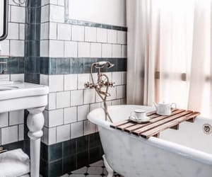 interior, bathroom, and bath image