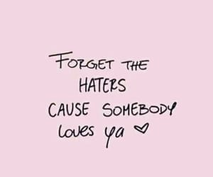 quotes, haters, and overlay image