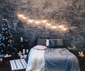 room, bedroom, and christmas image