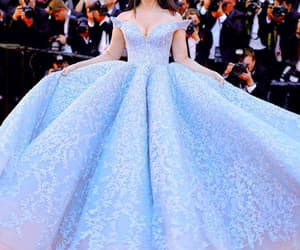dress, cannes, and blue image