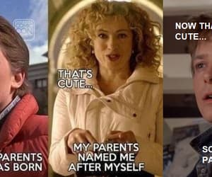 doctor who, Back to the Future, and funny image