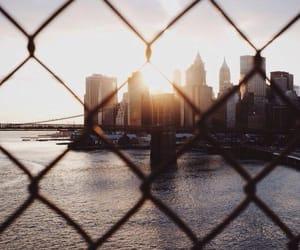 city, new york, and sun image