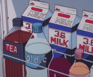 90s, milk, and anime image