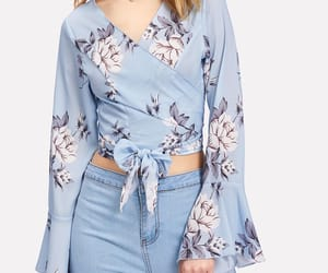 azzurro, blusa, and noeud image