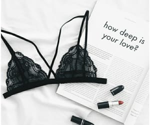 aesthetic, bralette, and black image