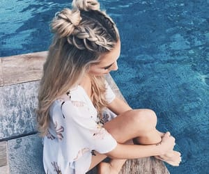 beauty, blonde, and hairstyle image