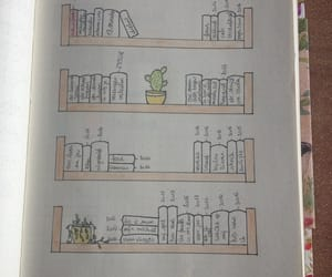 books, journal, and read image
