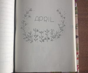 april, journal, and letters image