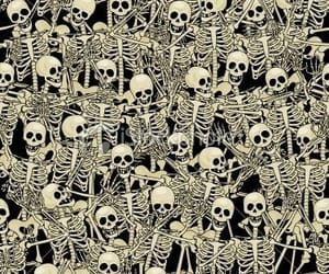 skeleton, background, and skull image
