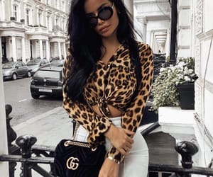 fashion, leopard, and outfit image