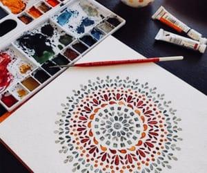 art, mandala, and painting image