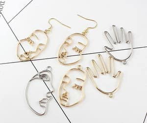aesthetic, earrings, and face image