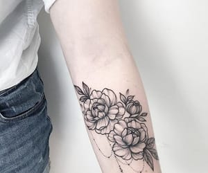 tattoo, flowers, and tatto image