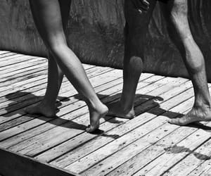 couple, summer, and black and white image