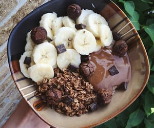 food, chocolate, and banana image