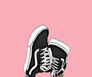 pink, wallpaper, and vans image