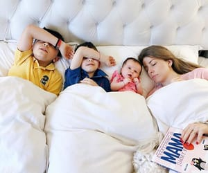 baby, bed, and boys image