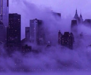 city, purple, and tumblr image