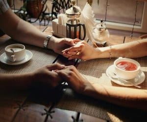 cafe, tea, and love image
