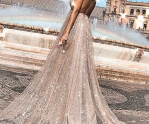 dance, dress, and fountain image