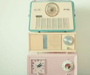 vintage, radio, and pastel image