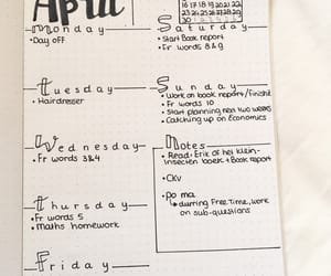 april, planner, and bullet image