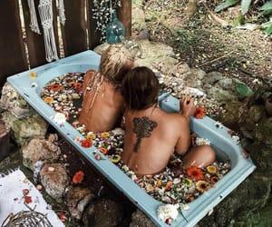bath, hippie, and beach image