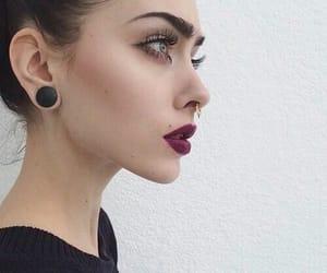 girl, makeup, and grunge image