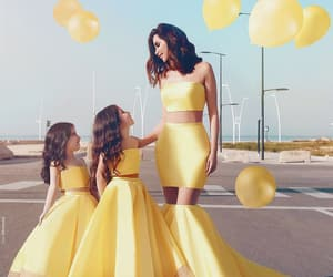 dress, yellow, and family image