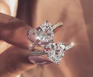 jewellery, rings, and diamond image